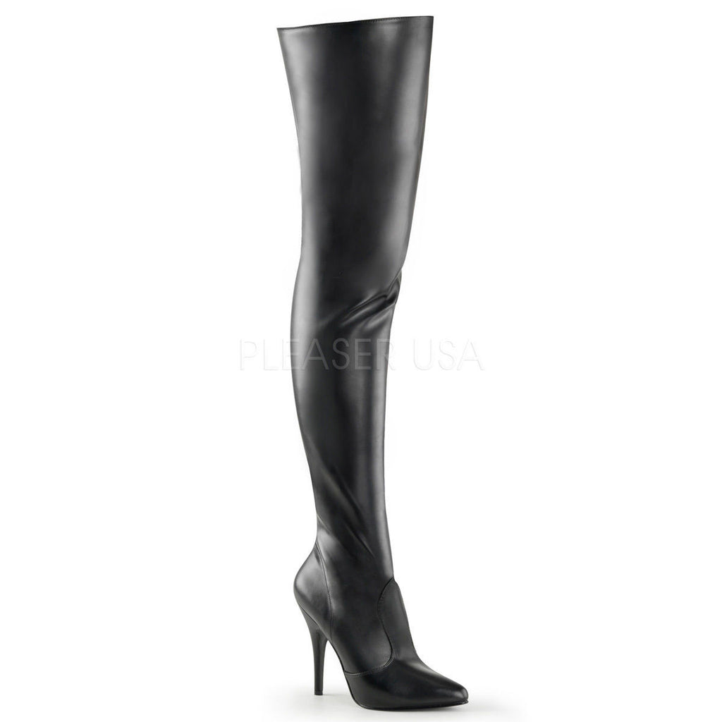 "Seduce 3010 Single Sole 5"" Heel Thigh High Boots 6-16 Red Black White Pink - Totally Wicked Footwear"