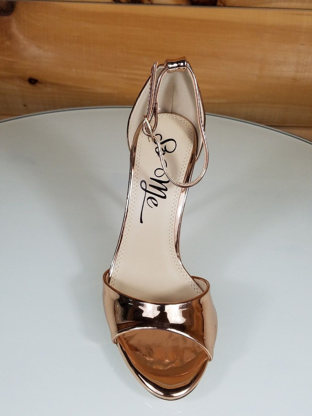 "So Me Gala Rose Gold Metallic Closed Back 4.5"" High Heel Shoe"