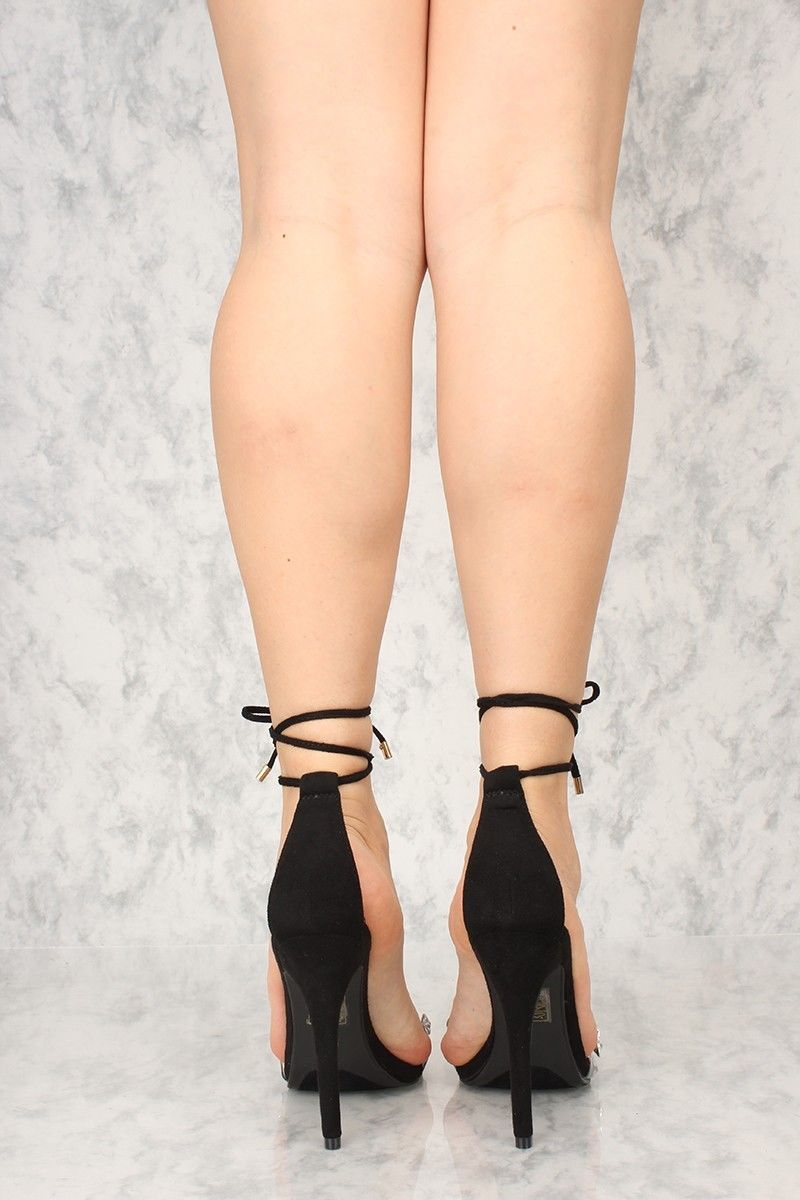 d2485742d3ab Top Show Black Tie Up Crystal Toe Strap 4