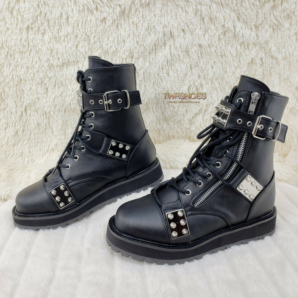 Valor 280 Goth Combat Biker Ankle Boots Black Matte Men US Sizes NY RESTOCK - Totally Wicked Footwear