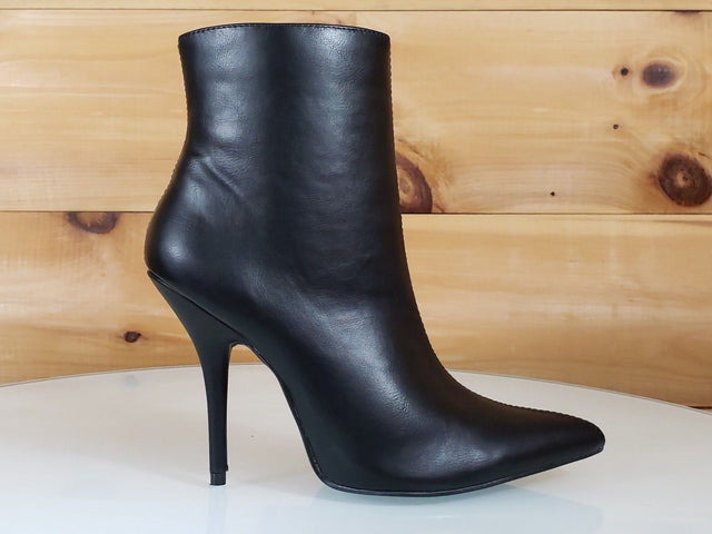 Mac J Mind Blowing Black High Heels Pointy Toe Ankle Boot