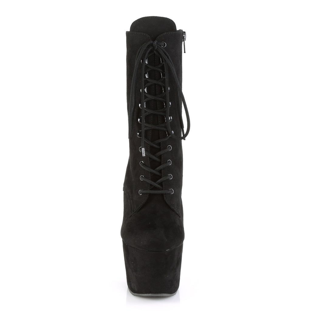 "Adore 1020FS Vegan Suede Lace Up Ankle Boot - 7"" High Heels"