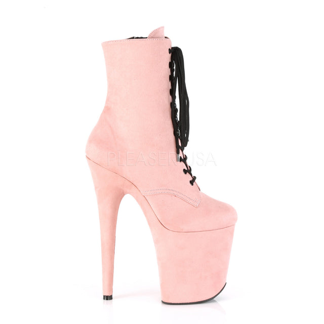 "Flamingo 1020FS Pink Platform - 8"" High Heel Ankle Boot"