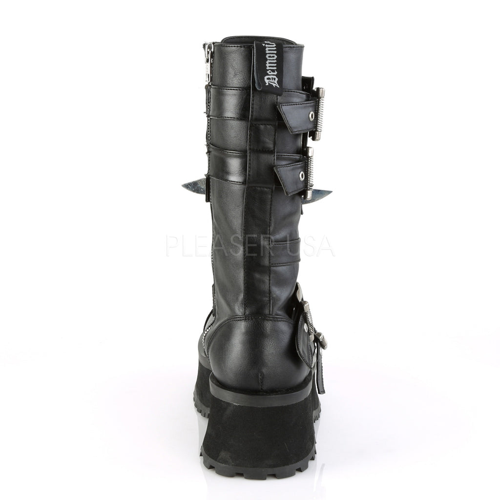 Grave Digger 250 Black Lace Up Men's Goth Platform Boot