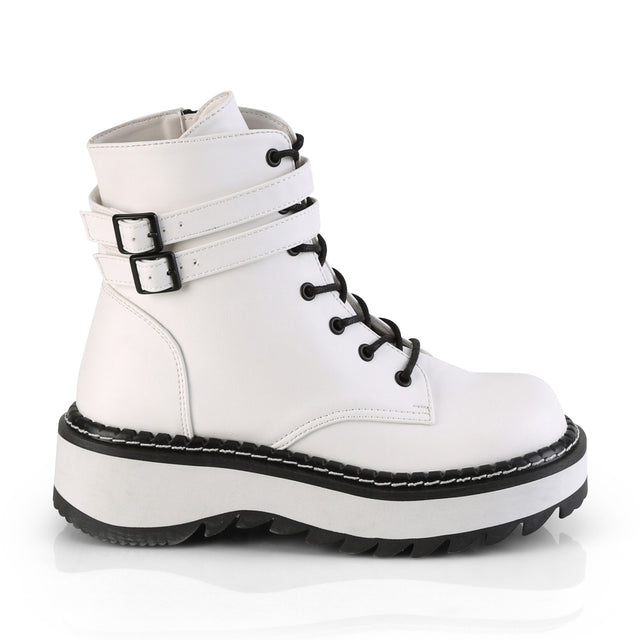 Lilith 152 White Vegan Leather Ankle Boots 6-12
