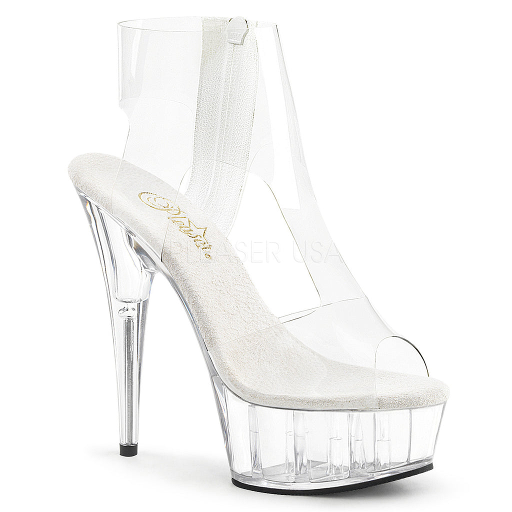 3d4af36f6a32 Delight 633 Clear T Strap Bootie - 6