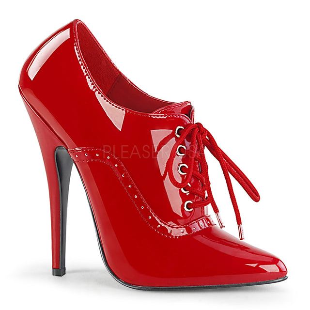"Domina 460 Oxford Pointy Toe 6"" High Heel Shoe Red Patent"