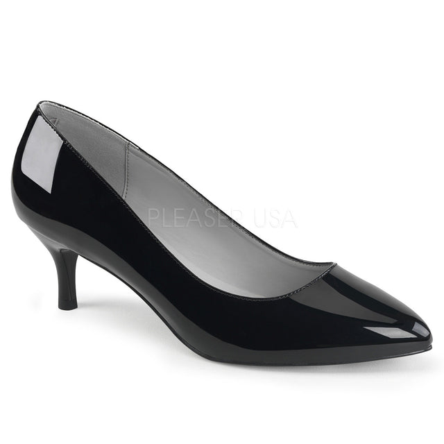 "Kitten 01 Patent 2.5"" Heel Pump Shoe Black - Totally Wicked Footwear"