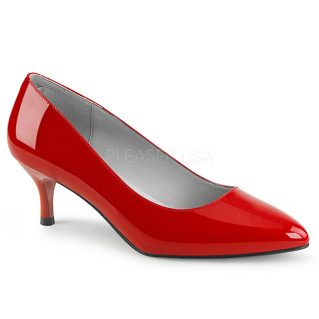 "Kitten 01 Patent 2.5"" Heel Pump Shoe Red - Totally Wicked Footwear"