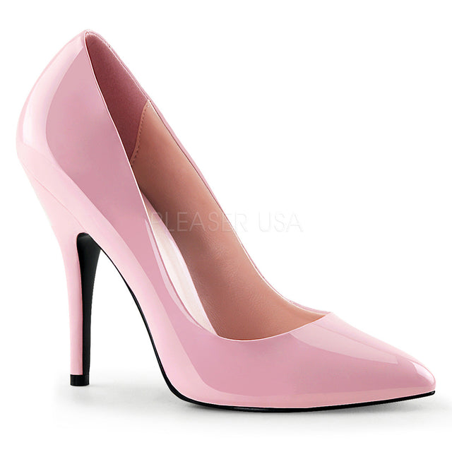 Seduce 420 Point Toe Single Sole Pump 6 -16 Baby Pink Patent