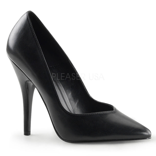 Seduce 420V Single Sole V Cut Pump 6 -16 Black Matte - Totally Wicked Footwear