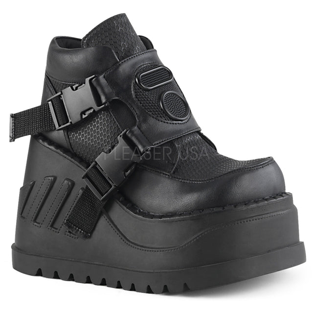 "Stomp 15 Black 4.75"" Platform Wedge Ankle Boot"