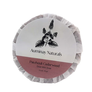 Auminay Patchouli Cedarwood Goat Milk Soap