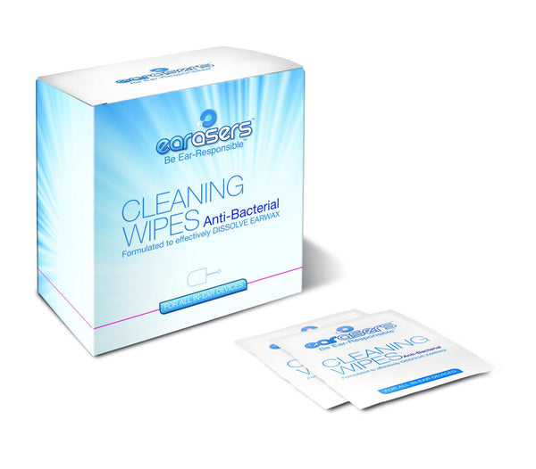 cleaning wipes 30 per box with brush earasers inearz