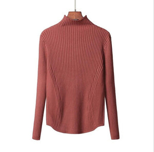 Hot Women's outerwear 2020 Sweater Women's autumn/winter semi-turtleneck thickened knit sweater slimming age wear top