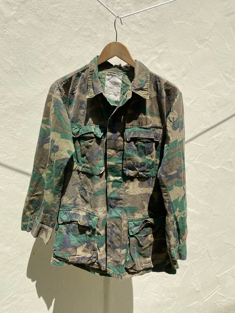 Camo Japanese Tiger Embroidered Army Jacket - Jetsetbohemian