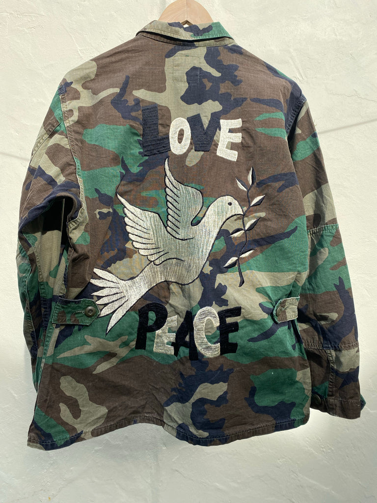 Love Embroidered Army Jacket - Jetsetbohemian