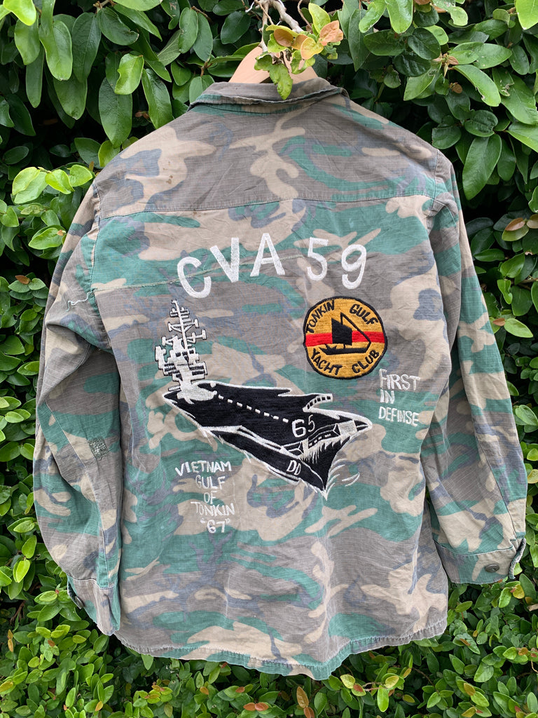 CVA 59 Embroidered Army Jacket - Jetsetbohemian
