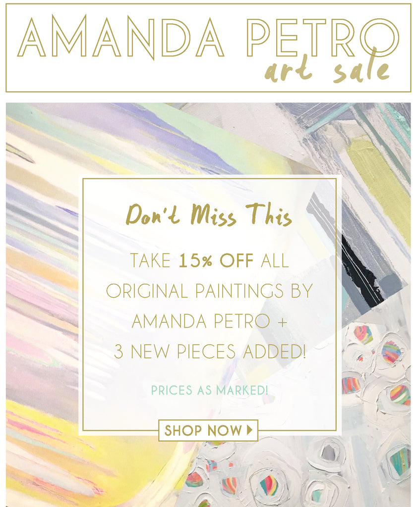 Amanda Petro Art Sale | Mintwood Home