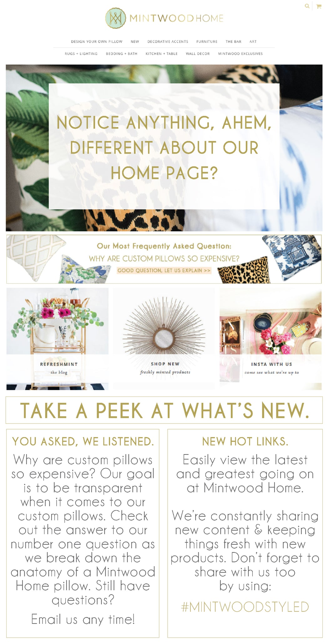 Mintwood Home New Homepage Design