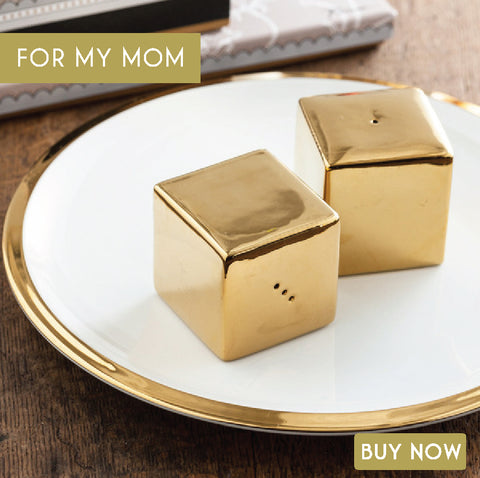 Gold Salt & Pepper Shakers