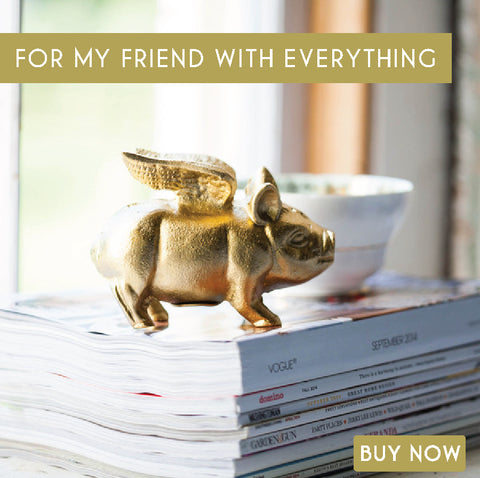 Gold Flying Piggy Bank