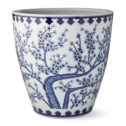 Blue And White Plum Tree Planter