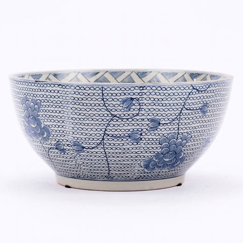 Blue & White Chain Bowl
