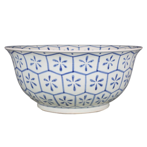 B&W Turtle Shell Motif Bowl