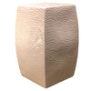 Seawave Square Porcelain Garden Stool Blush Pink