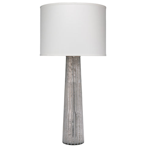 Striped Silver Pillar Table Lamp