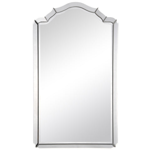 Antiqued Silver Leaf Mirror