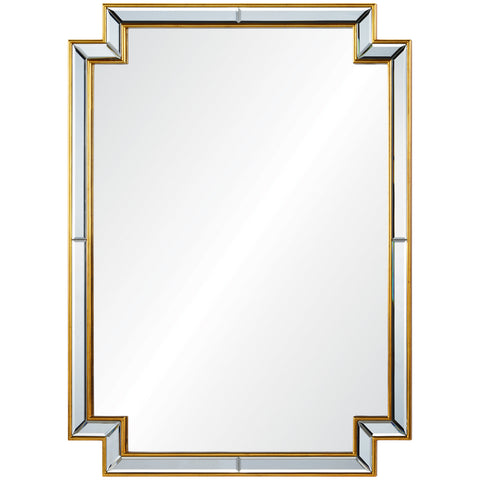 Distressed Metallic-Edged Mirror