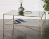 Henzler Mirrored Glass Coffee Table