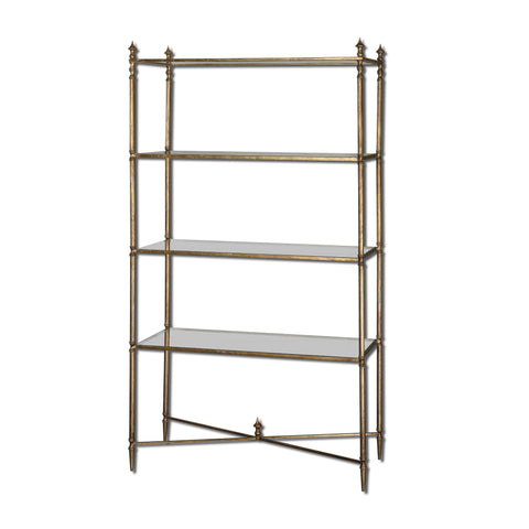Henzler Mirrored Glass Etagere