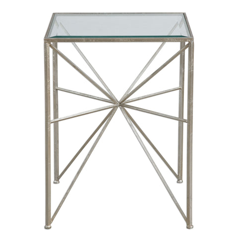 Silvana Silver Side Table