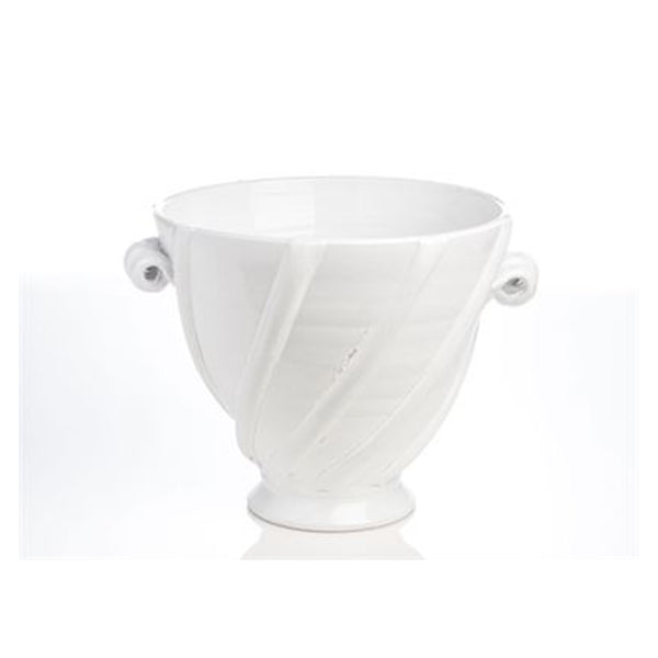 White Ribbon Cachepot