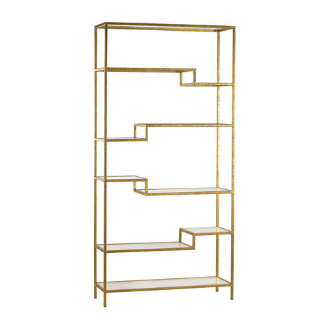 Gold and Glass Bookshelf