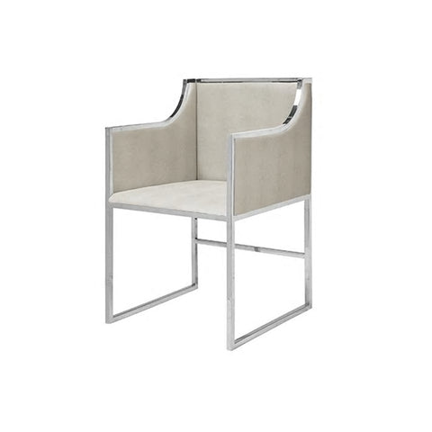 Worlds Away Anabelle Chair Nickel