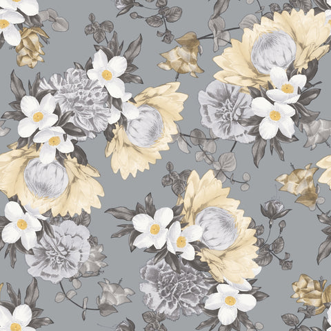 Botanical Pale Yellow Wallpaper by Tempaper
