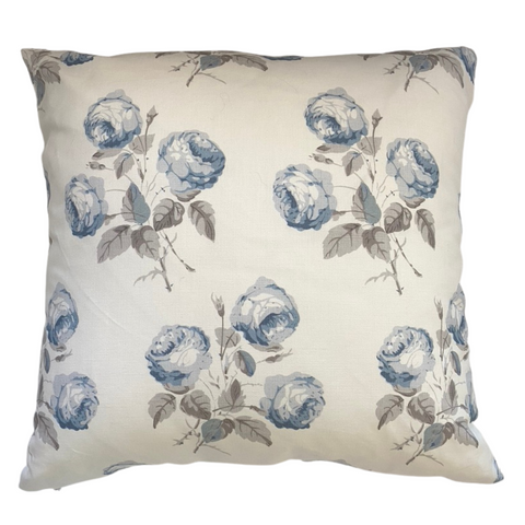 Colefax & Fowler Bowood Pillow Blue & Grey