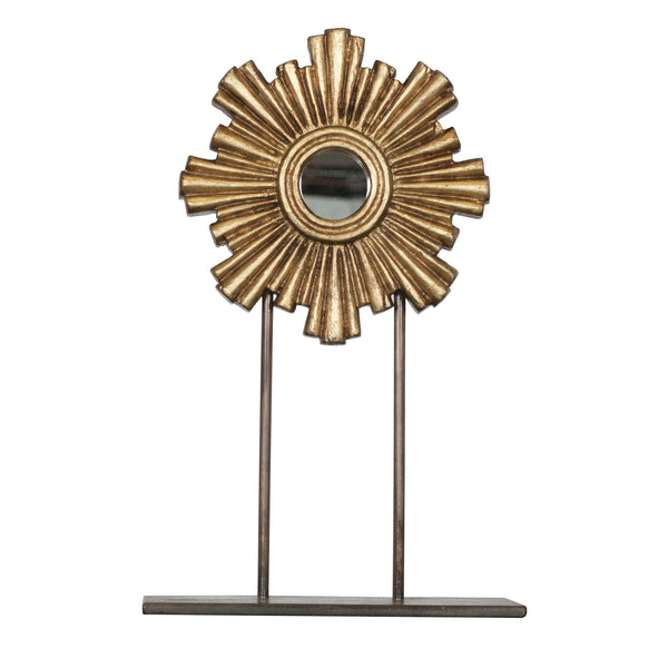 Worlds Away Carmen Mirror on Stand - Gold Leaf