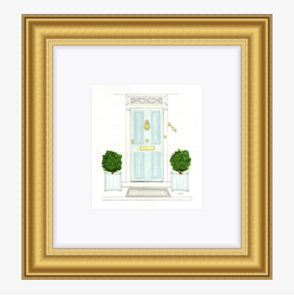 The Mint Door Print