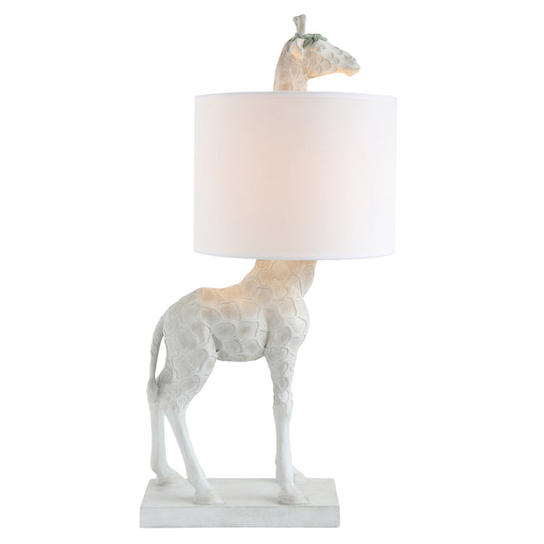 White Resin Giraffe Lamp