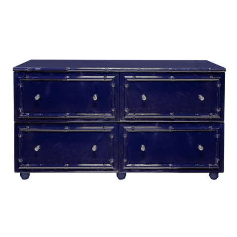 Worlds Away Emma Lacquer Bamboo Chest