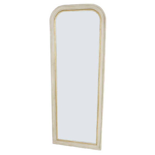 Lawrence White and Gold Full Length Mirror
