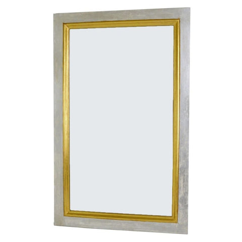 Trenor Silver and Gold Rectangle Mirror
