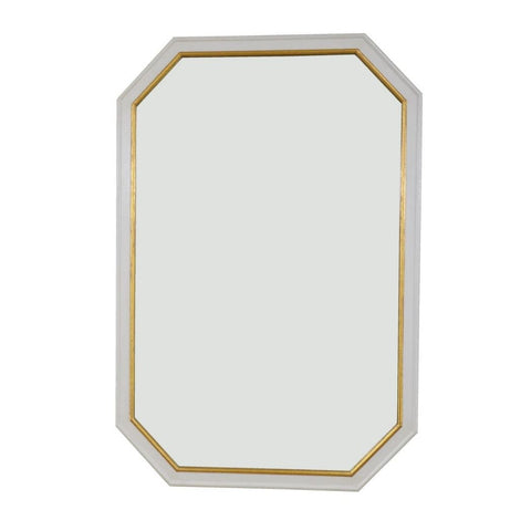 Edith Pearl White and Gold Wall Mirror