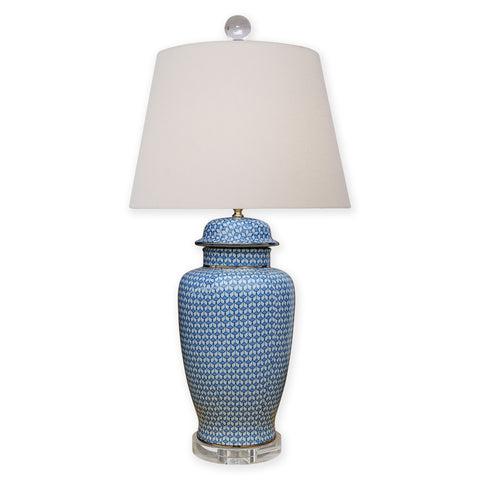 Ginger Jar Blue and White Porcelain Lamp