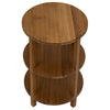 Noir Gold Teak Round Side Table